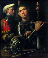 Attr. Giorgione Guerriero con Scudiero detto il Gattamella INV.1890 N.911