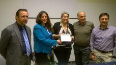 Consegna Premio Salento da comunicare 2017 a Gabriella Poli. da sx. Antonio Santo, Carmen Mancarella, Gabriella Poli, Fernando Leone, Diego De Carlo