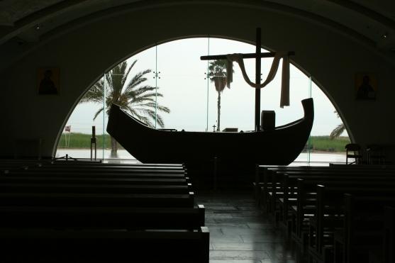 Magdala chiesa con barca IMG_8673