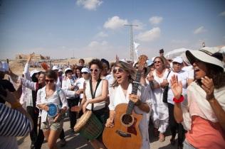 foto Yael durante la marcia in israele