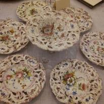Villa Pisani Sacco, collezione di piatti