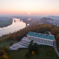 Danube Panorama Trail View on Walhalla and the Danube ©Deutschland abgelichtet Medienproduktion