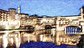 firenze ponte_FotoSketcher